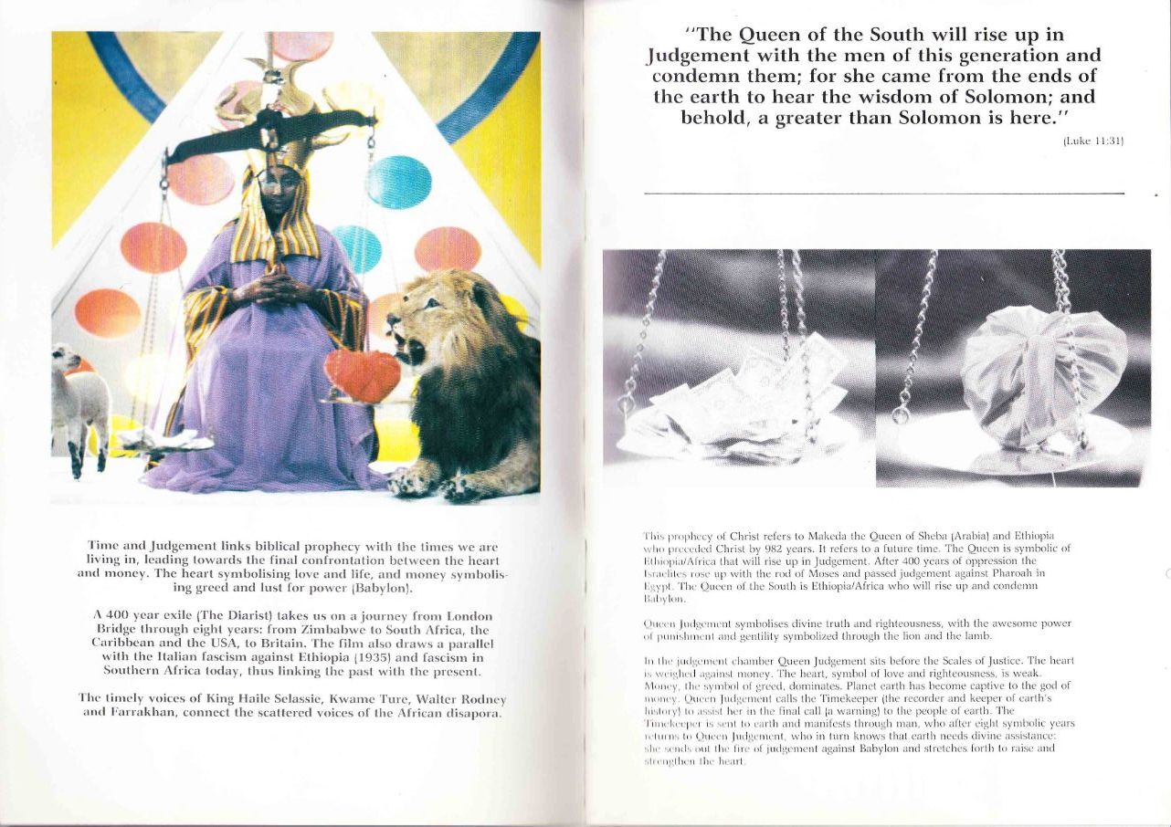 Excerpts for original Time and Judgement programe